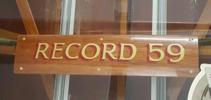 Record 59 Vinyl Boat Name