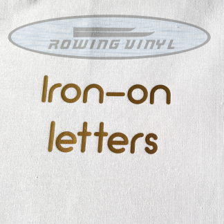 Iron on vinyl letters and numbers